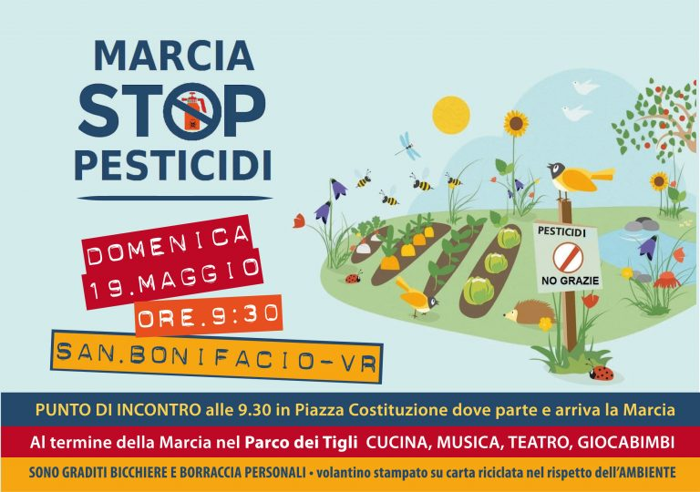 Marcia Stop Pesticidi 19 maggio 2019 a San Bonifacio (Vr)