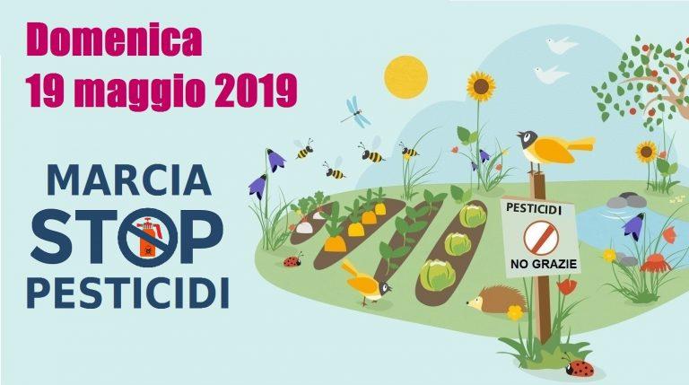 Marcia Stop Pesticidi 19 maggio 2019 a Cison di Valmarino (Tv), Trento, Caldaro (Bz), Codroipo (Ud), Bologna, Potenza Picena (Mc)